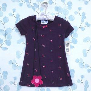 NWT Amy Too! Purple Short Sleeve Kids Dress